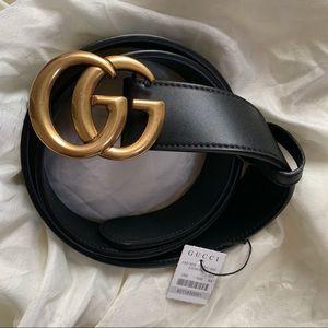 New Gucci Gold Marmot GG Belt Logo Women Double G